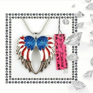 Betsey Johnson Americana Wings Necklace